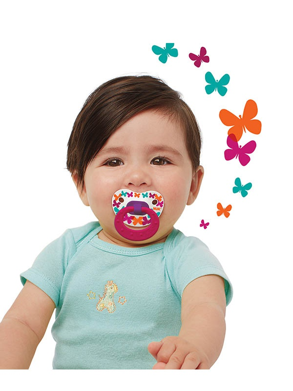 Elephants & Butterflies Orthodontic Pacifiers Product Image 2 of 6
