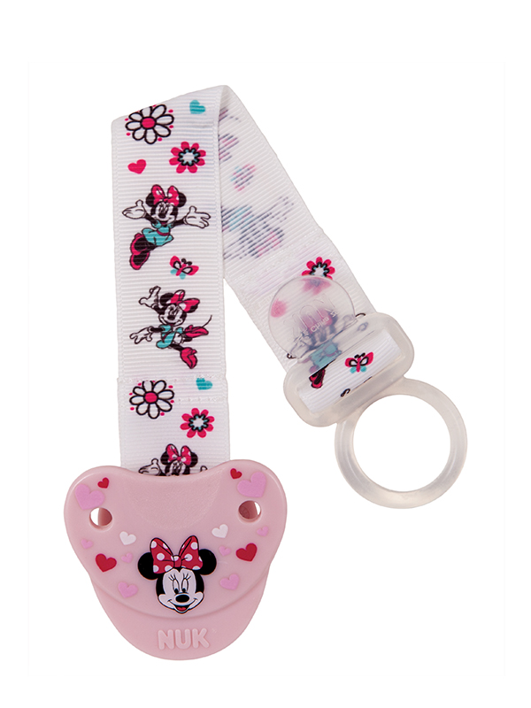 Disney® Mickey Mouse & Minnie Mouse Fashion Pacifier Clip Product Image 3 of 4
