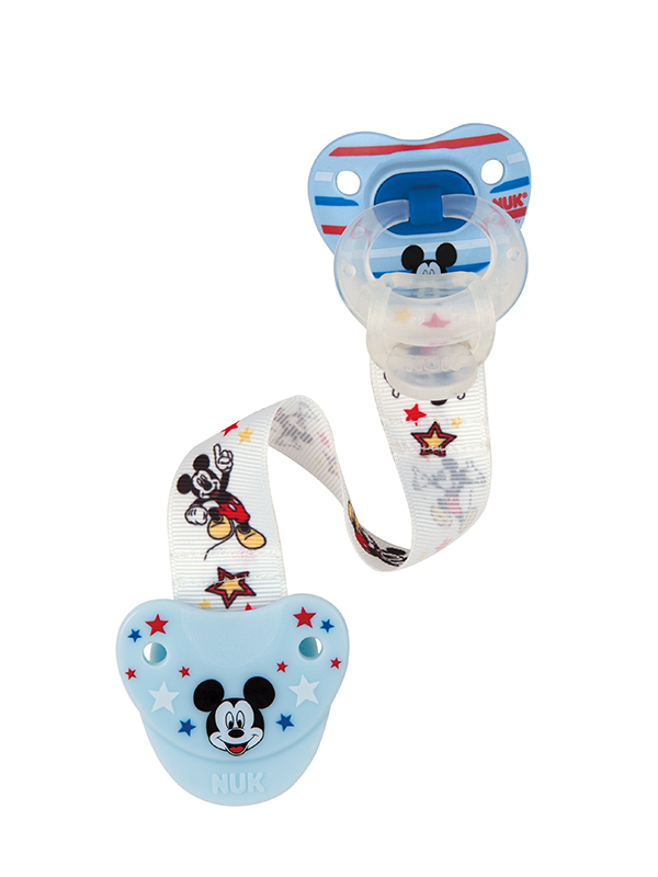 Disney® Mickey Mouse & Minnie Mouse Fashion Pacifier Clip Product Image 2 of 4