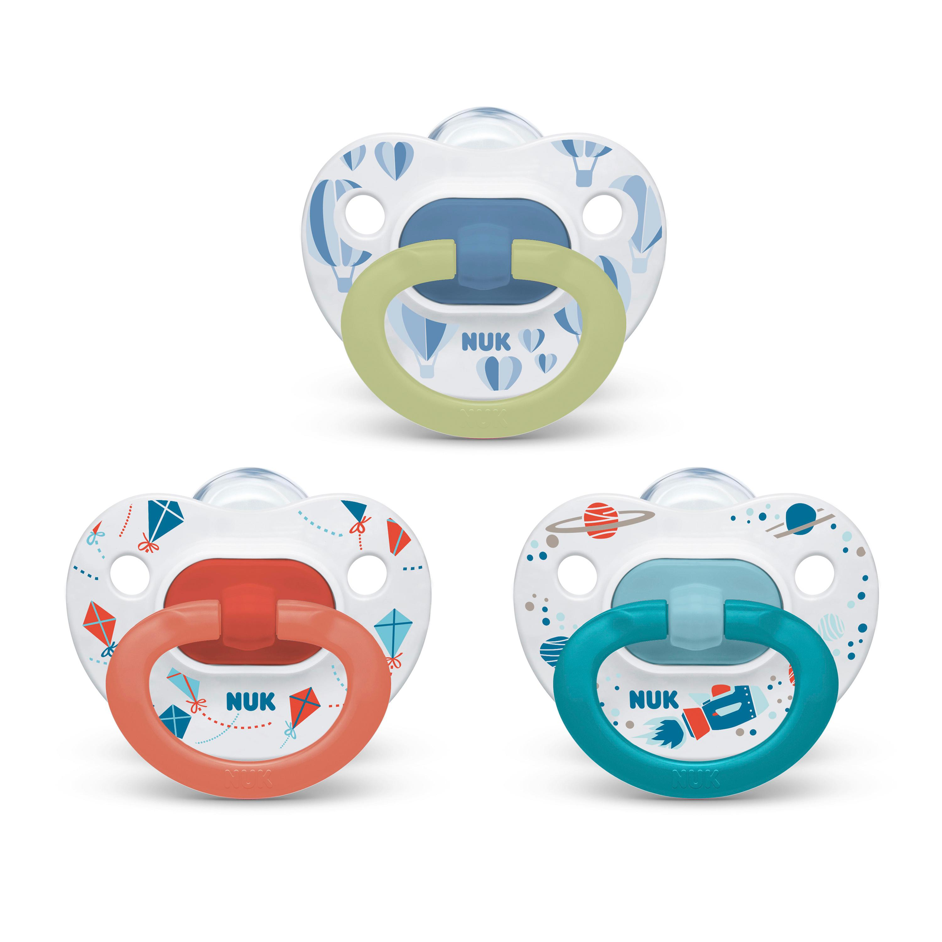 NUK® Orthodontic Pacifier Value Pack, 6-18 Months, 3-Pack Product Image 1 of 8