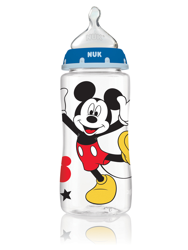 NUK® Disney® Mickey Mouse and Minnie Mouse Orthodontic Bottles, 10 oz., Medium Flow, 3-Pack Product Image 1 of 5