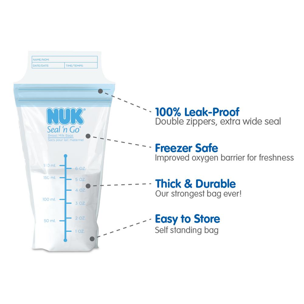 NUK® Seal 'N Go® Breast Milk Storage Bags, 50ct Product Image 3 of 3