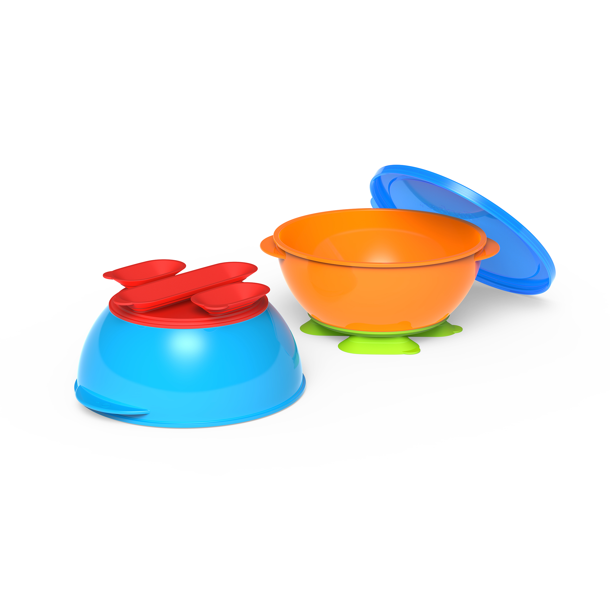 First Essentials by NUK™ Tri-Suction Bowls, Assorted Colors, 2-Pack Product Image 1 of 3