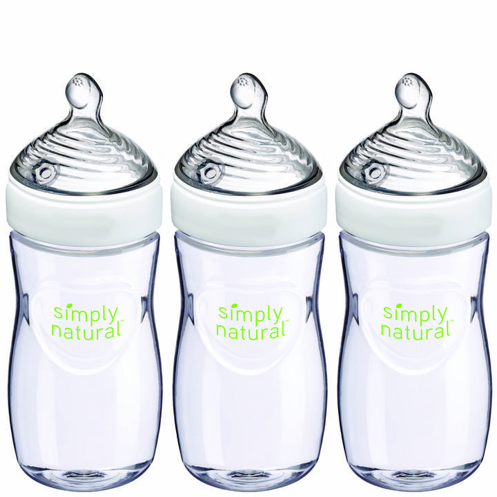 NUK® Simply Natural Bottle 9oz, 3Pk Product Image 1 of 9