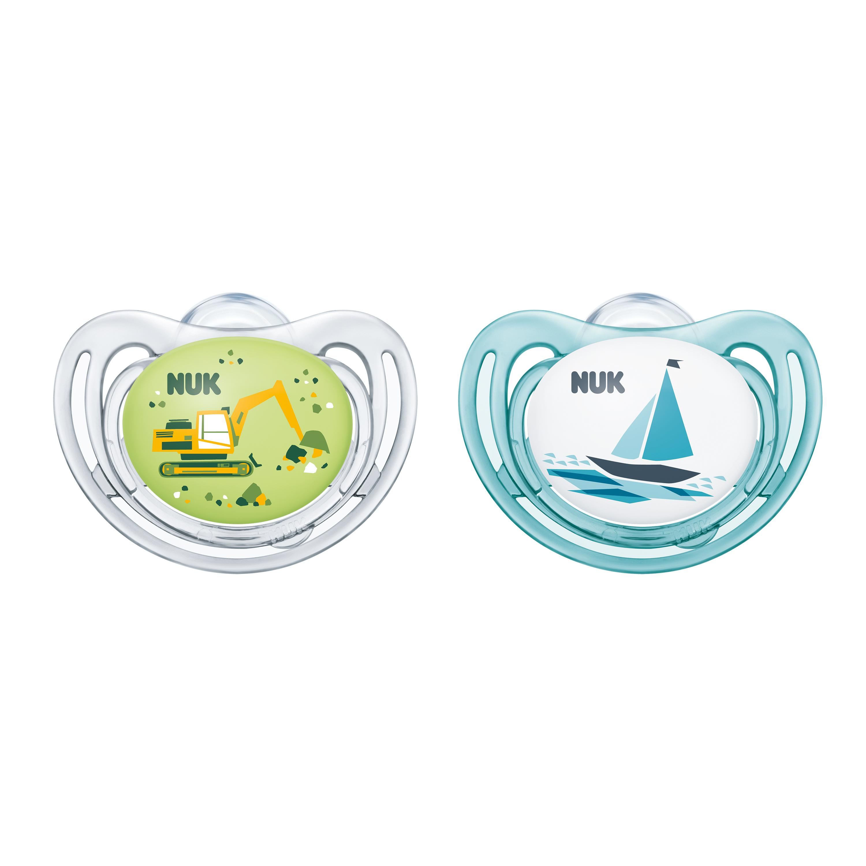 NUK® Airflow Orthodontic Pacifiers, 6-18 Months, 2-Pack Product Image 2 of 3