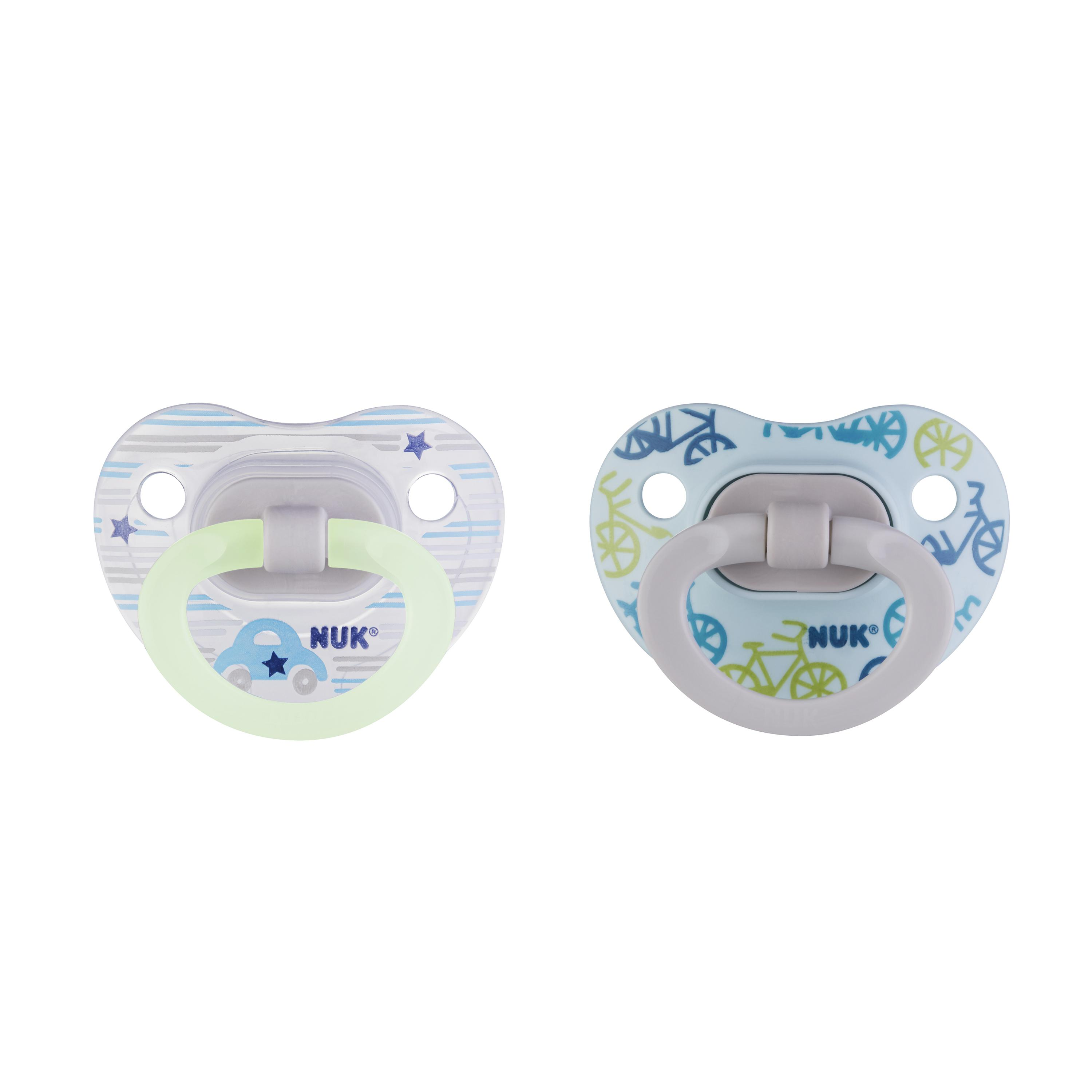 NUK® Glow-in-the-Dark Orthodontic Pacifiers, 6-18 Months, 2-Pack Product Image 5 of 6