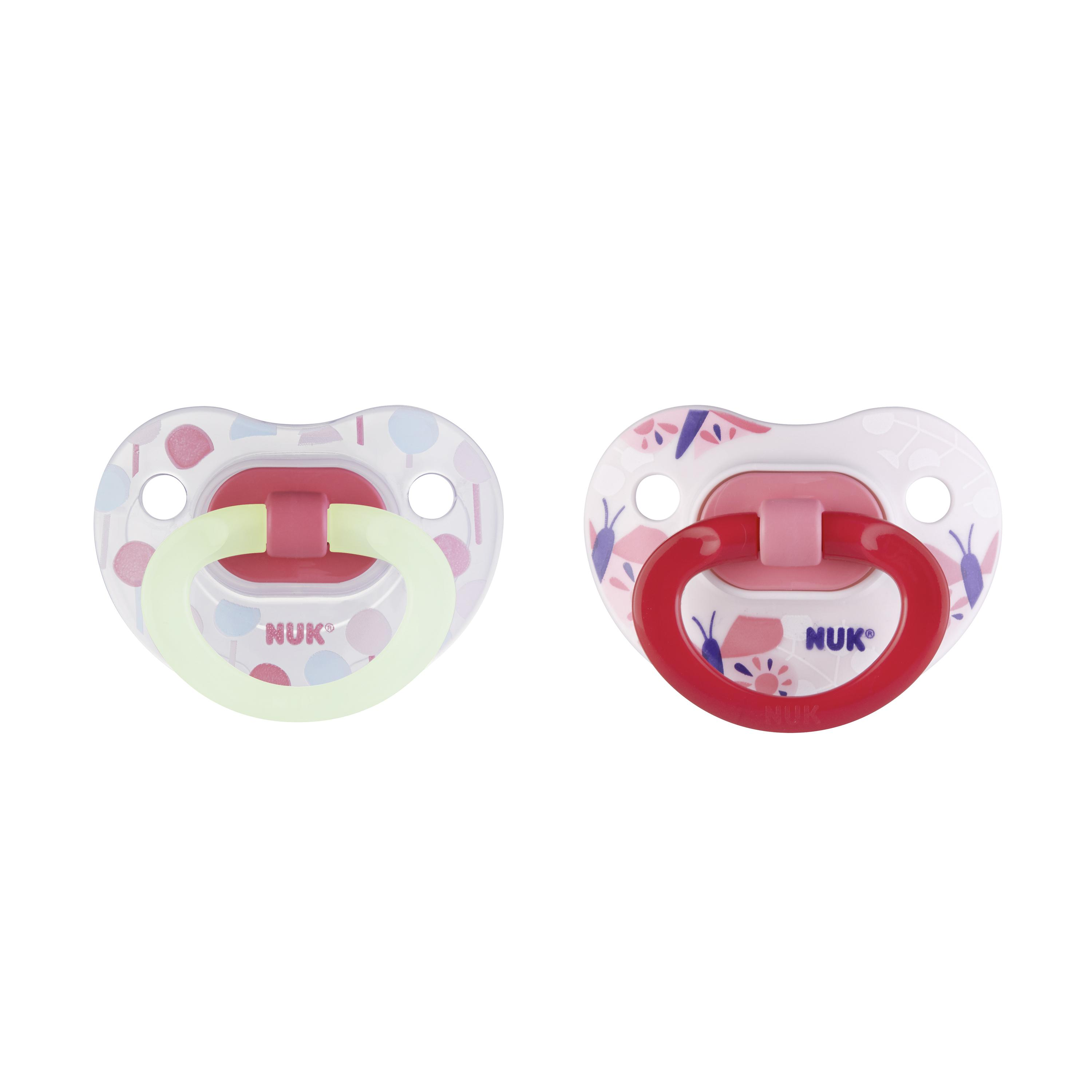 NUK® Glow-in-the-Dark Orthodontic Pacifiers, 6-18 Months, 2-Pack Product Image 6 of 6