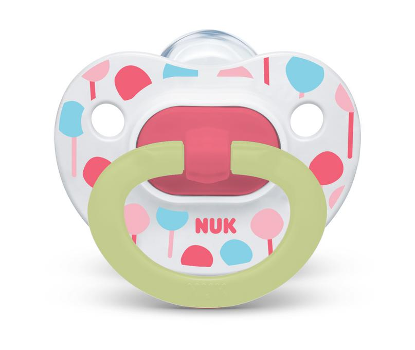 NUK® Glow-in-the-Dark Orthodontic Pacifiers, 6-18 Months, 2-Pack Product Image 1 of 6