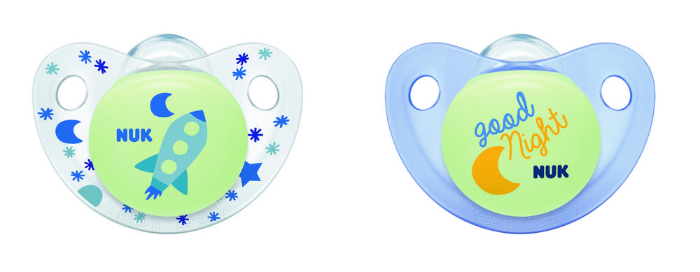 Cute-as-a-Button Glow-in-the-Dark Orthodontic Pacifiers, 0-6 Months, 2-Pack Product Image 6 of 6