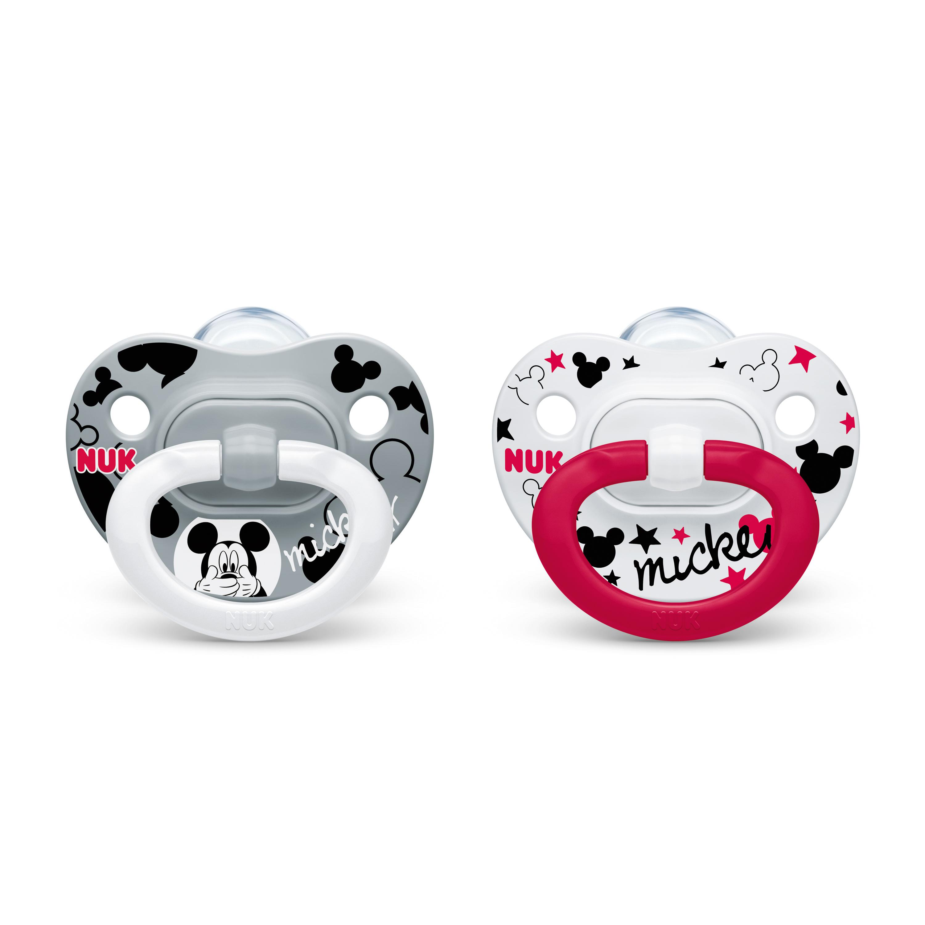 NUK® Disney® Mickey Mouse and Minnie Mouse Orthodontic Pacifiers, 0-6 Months, 2-Pack Product Image 4 of 6