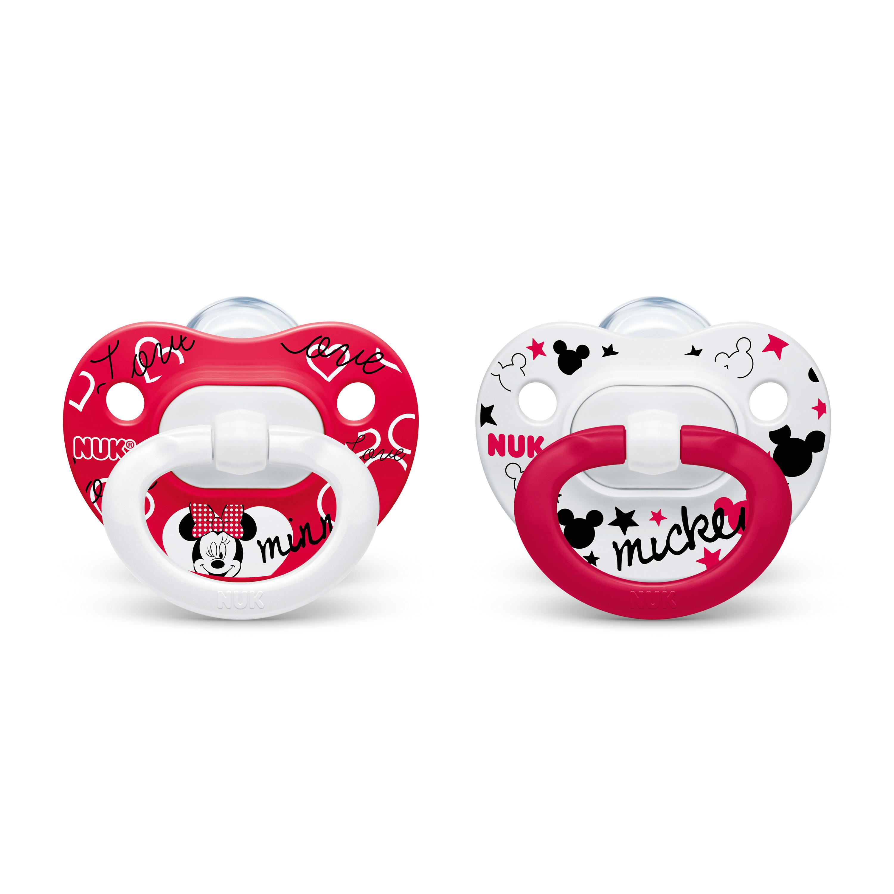 NUK® Disney® Mickey Mouse and Minnie Mouse Orthodontic Pacifiers, 0-6 Months, 2-Pack Product Image 5 of 6