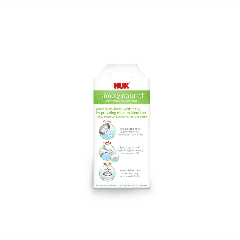 NUK® Simply Natural™ Bottle, 9oz, 1 Count Product Image 3 of 9