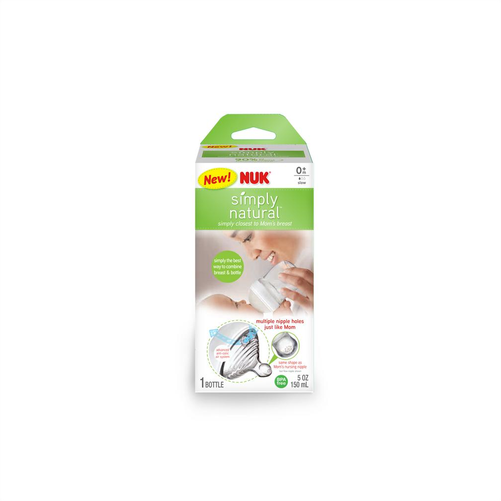 NUK® Simply Natural Bottle 5oz, 3Pk Product Image 2 of 10