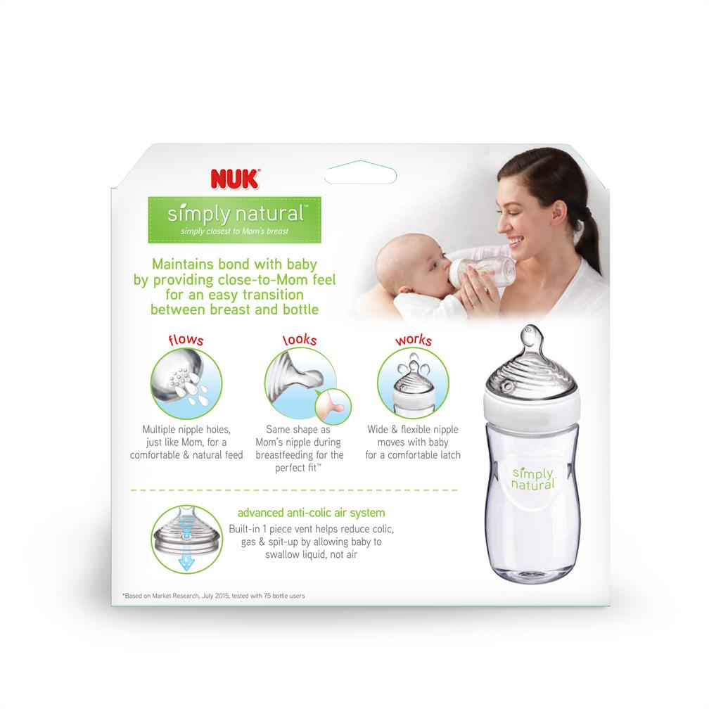 NUK® Simply Natural Bottle 9oz, 3Pk Product Image 2 of 9