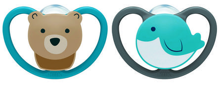 NUK® Space™ Orthodontic Pacifiers, 18-36 Months, 2-Pack Product Image 1 of 4