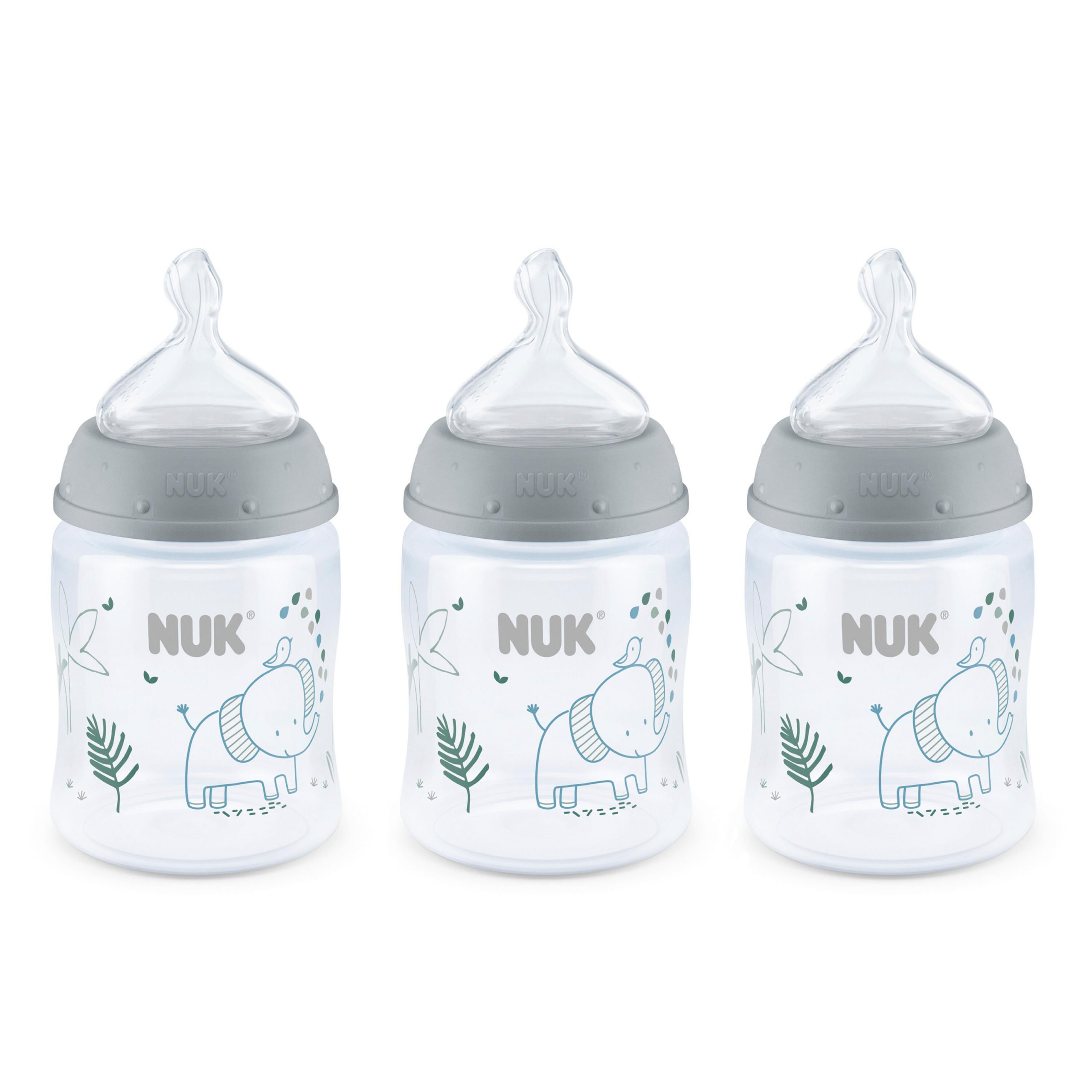 NUK® Smooth Flow™ Anti-Colic Bottle, 5 oz, 3-Pack, Elephants Product Image 1 of 9