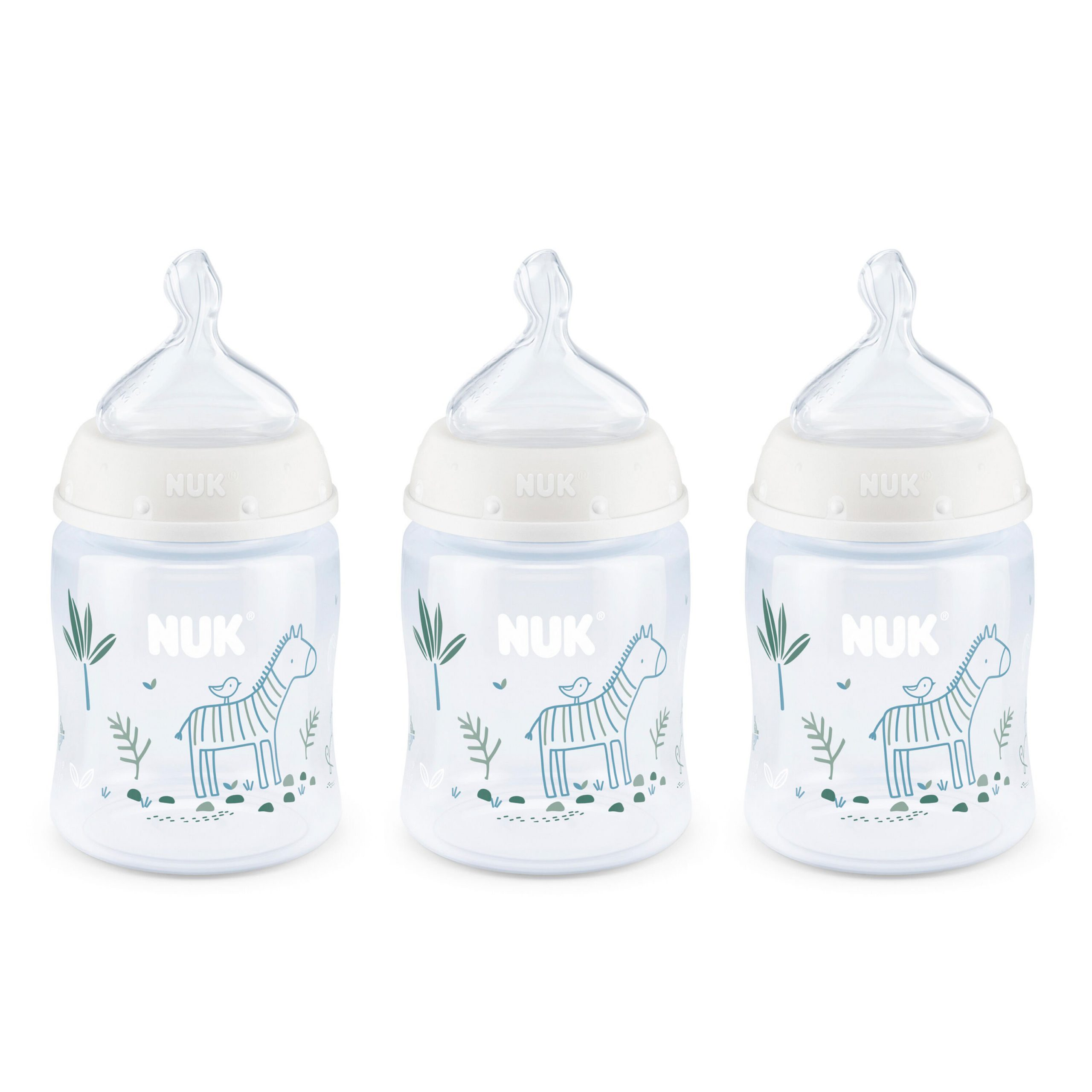 NUK® Smooth Flow™ Anti-Colic Bottle, 5 oz, 3-Pack, Zebra Product Image 1 of 9