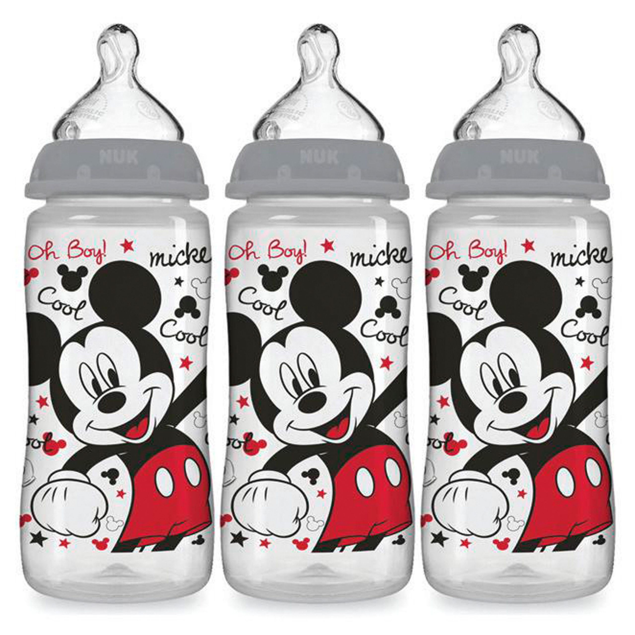 NUK® Smooth Flow Disney Bottle, Mickey Mouse, 10 oz, 3-Pack Product Image 1 of 9