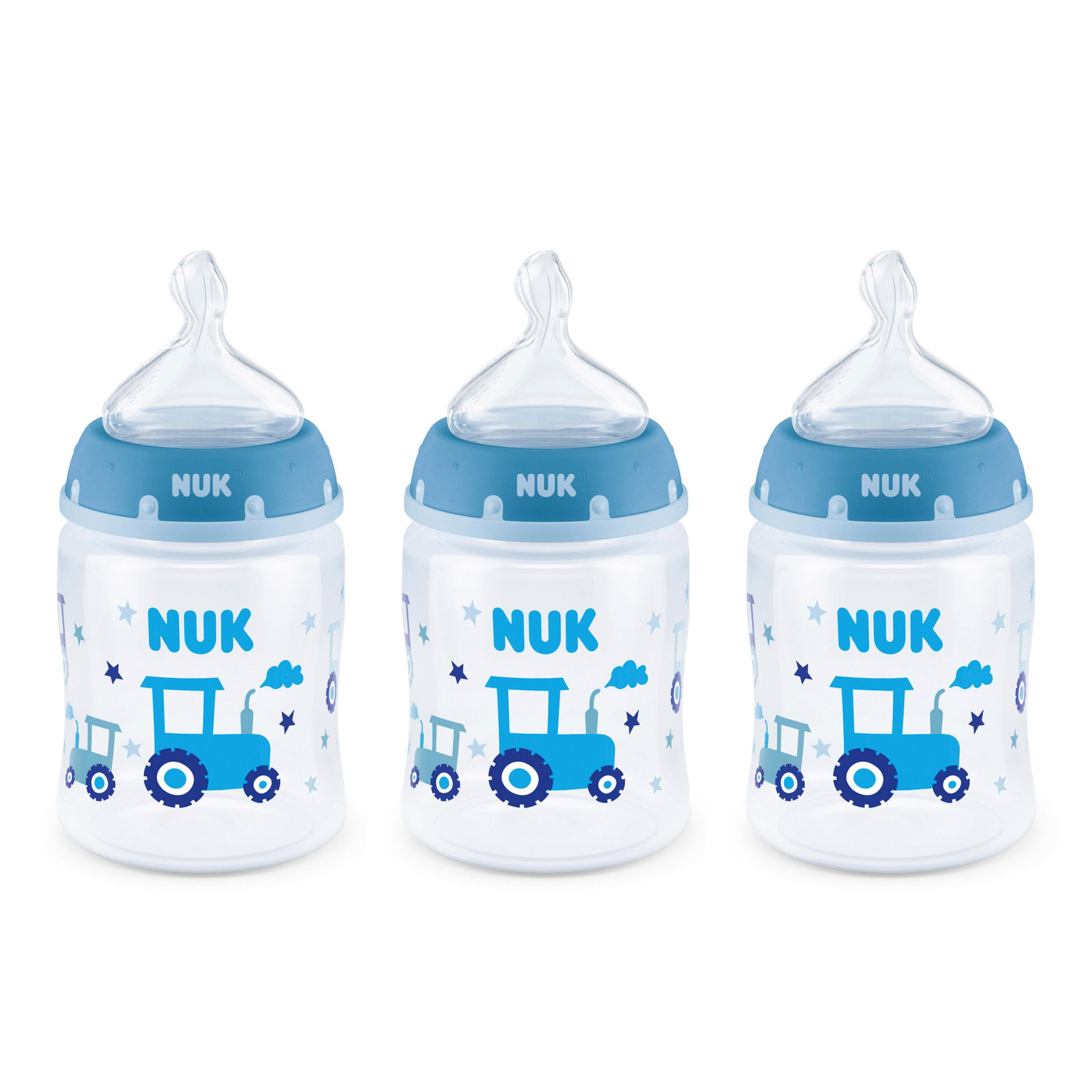 NUK® Smooth Flow™ Anti-Colic Bottle, 5 oz, 3-Pack, Boy Product Image 1 of 9