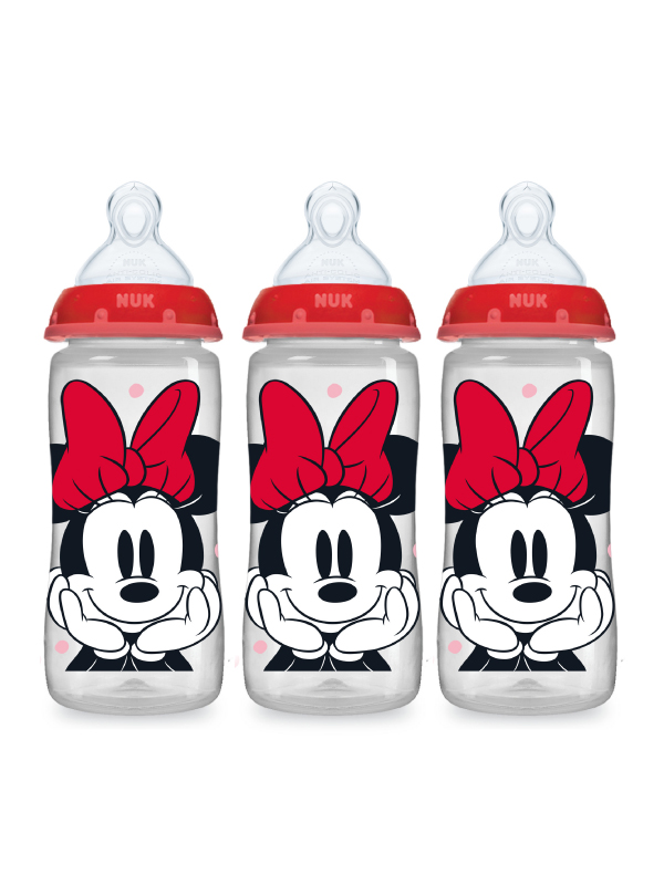 Disney® NUK® Mickey & Minnie Mouse Smooth Flow™  10oz Bottles Product Image 4 of 7