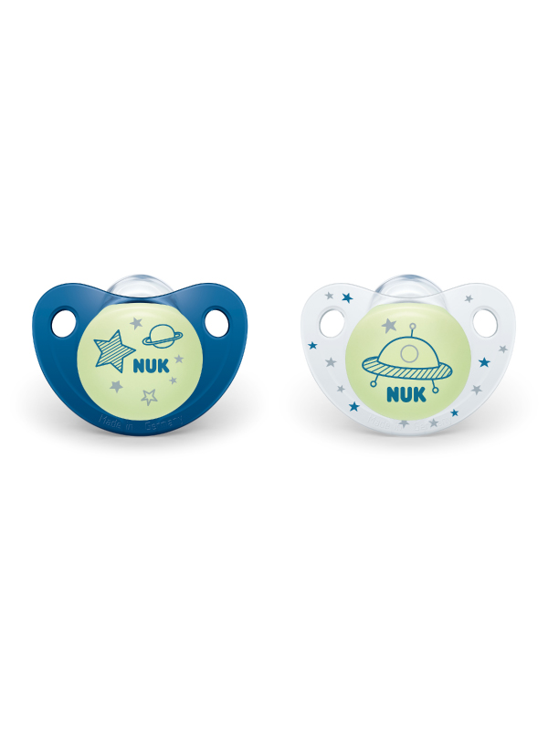 NUK® Cute-as-a-Button Glow-in-the-Dark Pacifiers Product Image 3 of 5