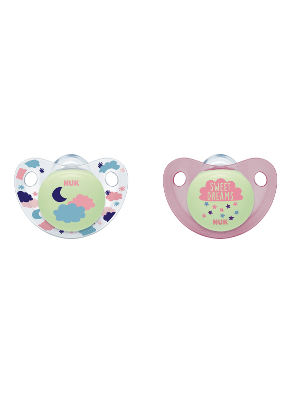 NUK® Cute-as-a-Button Glow-in-the-Dark Pacifiers Product Image 4 of 5