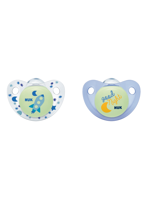 NUK® Cute-as-a-Button Glow-in-the-Dark Pacifiers Product Image 5 of 5