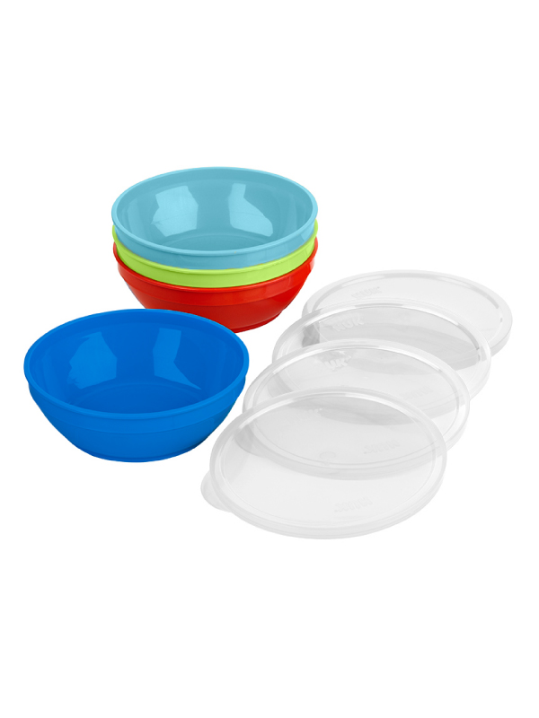 First Essentials™ by NUK® Bunch A Bowels® with Lids 4PK Product Image 1 of 3