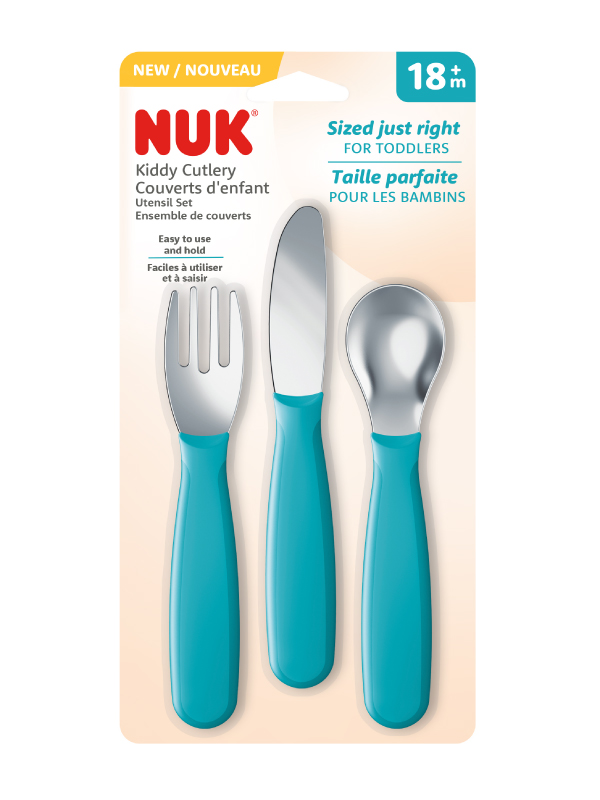 NUK® Kiddy Cutlery 3/pc Set Product Image 2 of 2